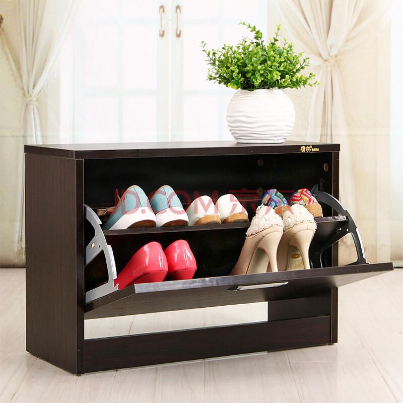 翻板储物鞋柜白色换鞋凳子坐