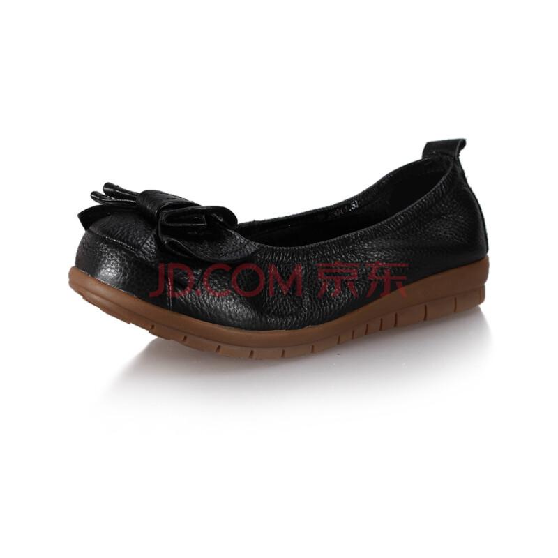 真皮休闲软底豆豆鞋平底单鞋女皮鞋y3b2006-158