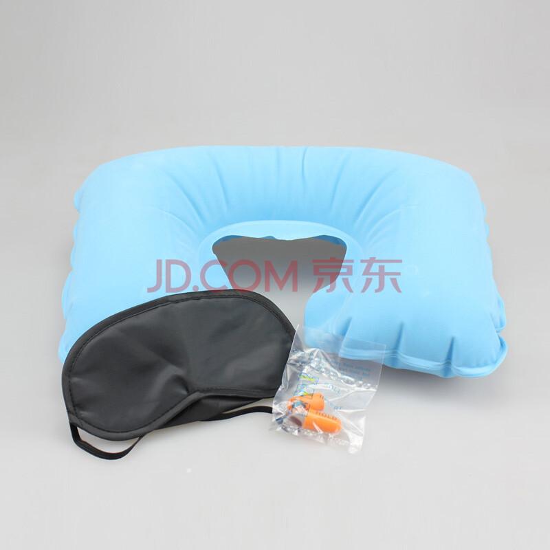 旅游三宝充气枕眼罩耳塞护颈枕脖枕飞机枕头旅行旅游