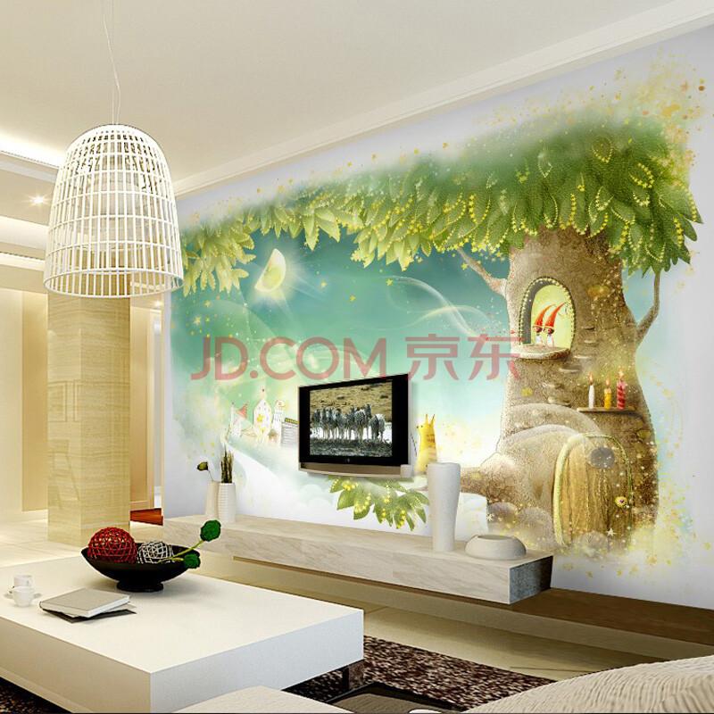 古德大型壁画卧室客厅儿童房梦幻卡通环保电视背景花