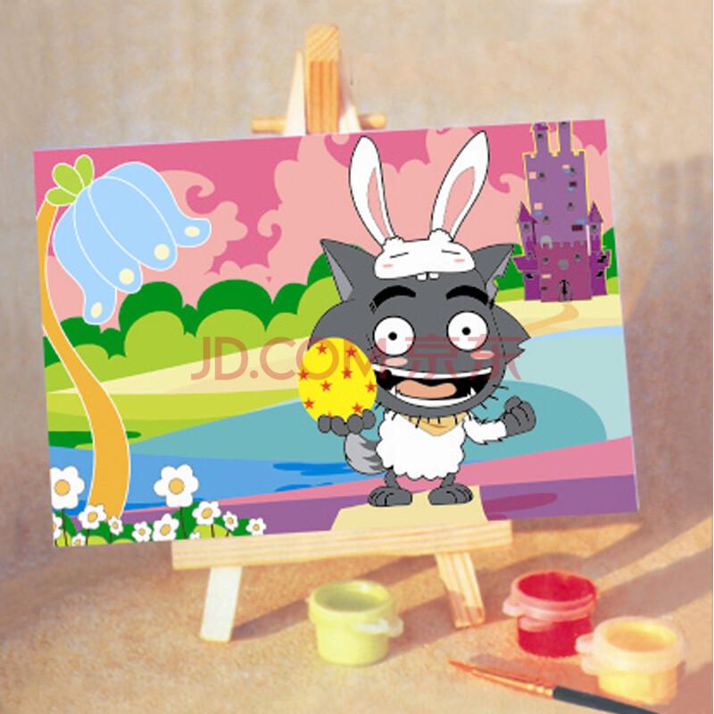 恋美diy数字油画 自助动物油画