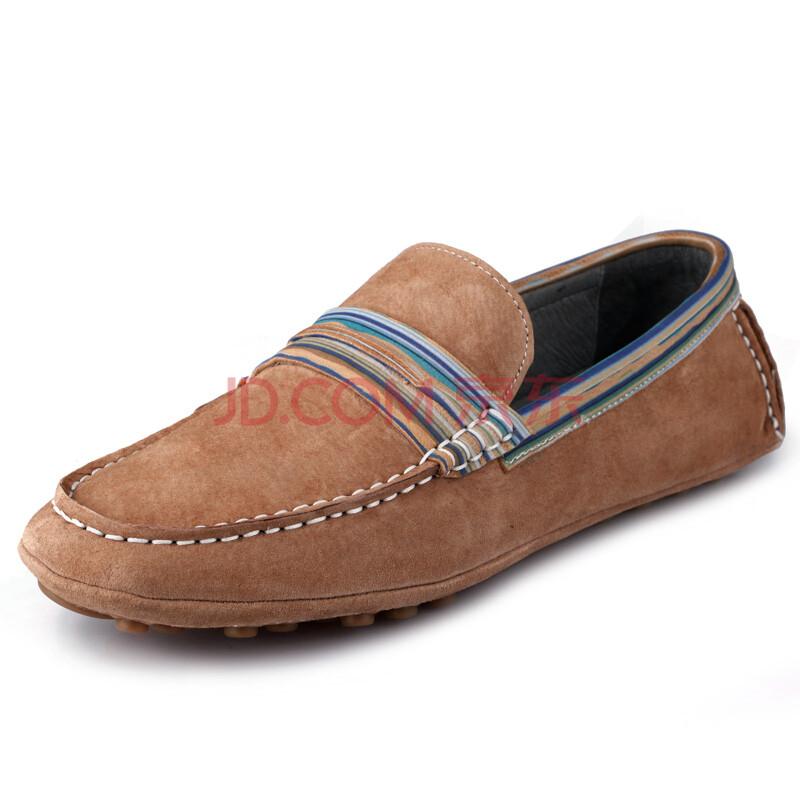 男士真皮豆豆鞋帆船鞋休闲磨砂皮驾车鞋男鞋子