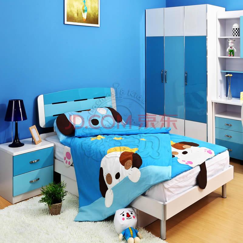 宇宙宝贝 韩式可爱贴布儿童床品 男童女童学生床上用品幼儿园纯棉三件