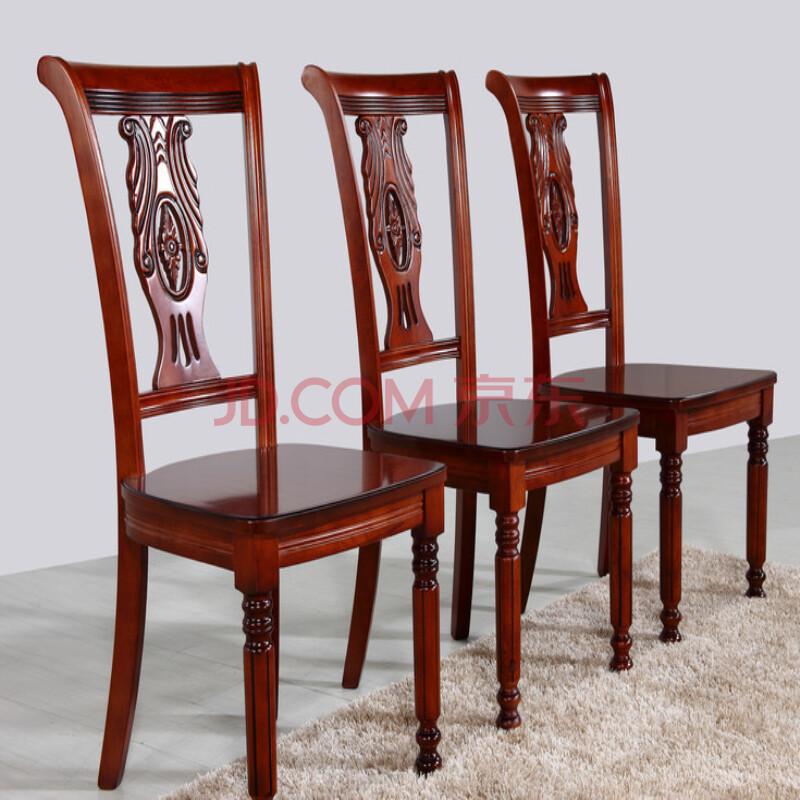 欧施洛 餐椅 实木餐椅 客厅餐凳 欧式复古 工艺板凳 古董 欧式馆 实木