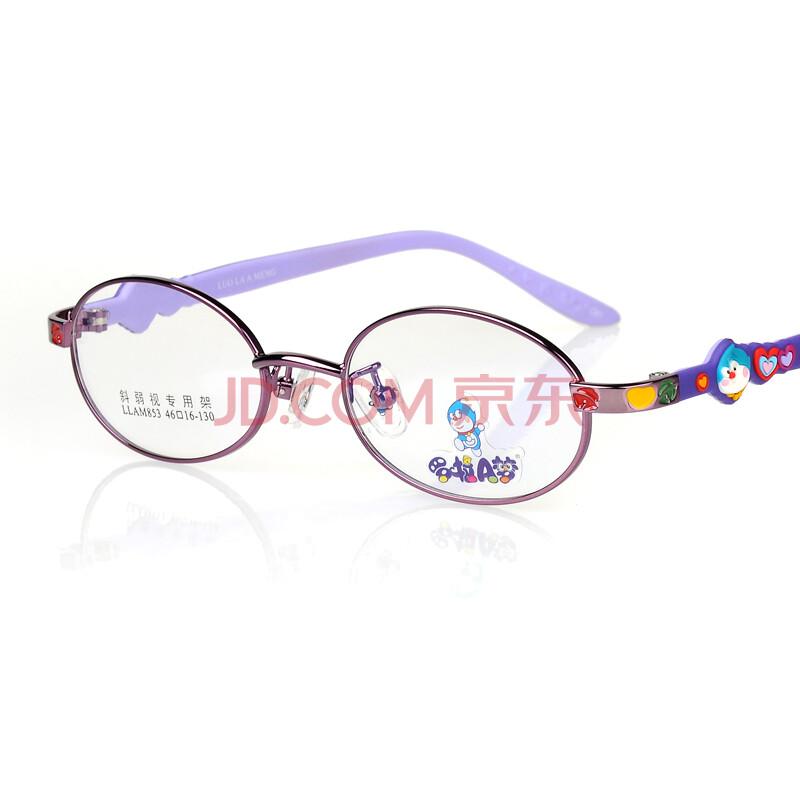 罗拉a梦儿童眼镜框架 糖果色硅胶防滑弱视斜视专用