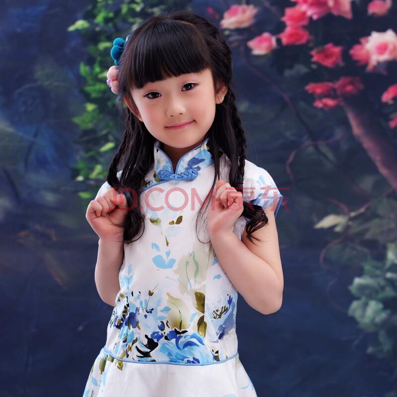 2013新款童装裙子旗袍儿童唐装女童纯棉旗袍