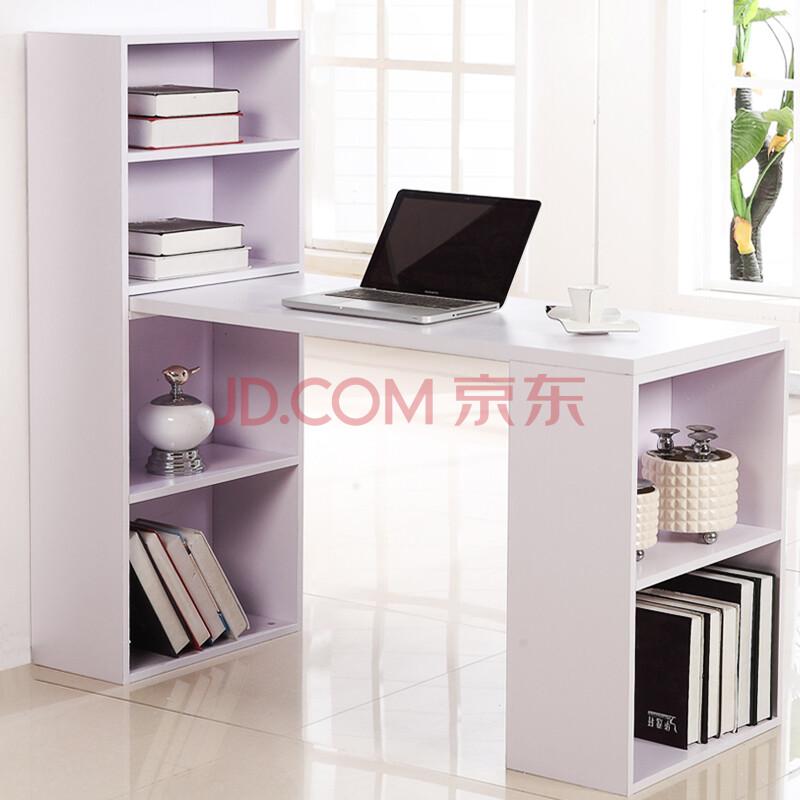 京东:IKAWOOD台式电脑桌 书桌 书柜组合0862铁牌以上199元包邮