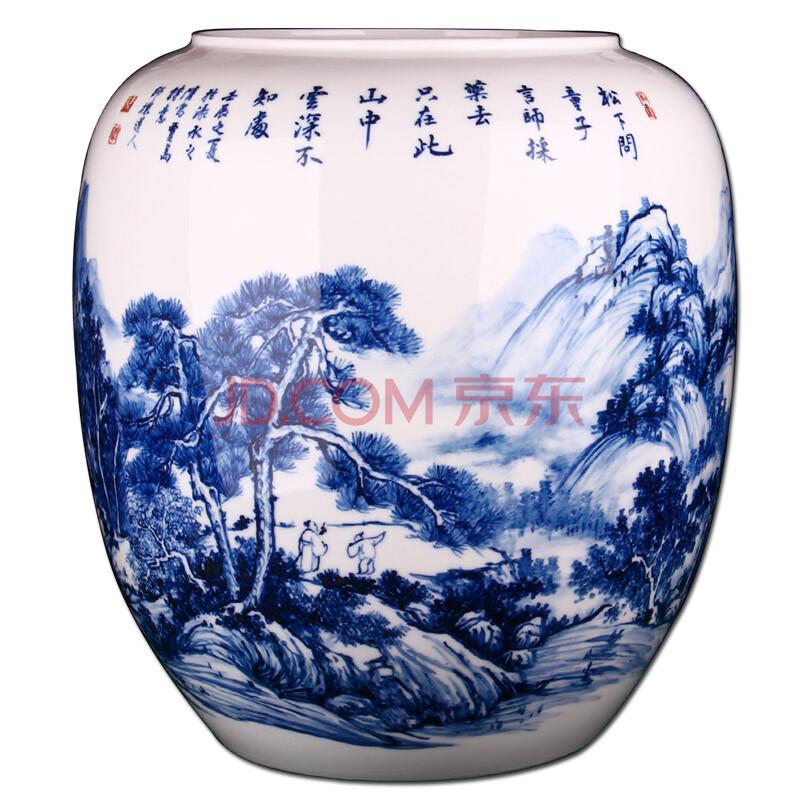 景德镇青花瓷陶瓷花瓶