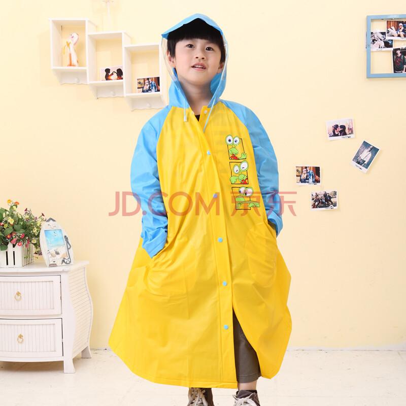 款小孩雨披带书包位童装