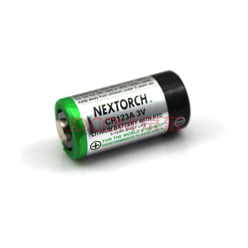纳丽德nextorch nt123a 3v锂电池(不可充电) cr123a电池 八节电池图片