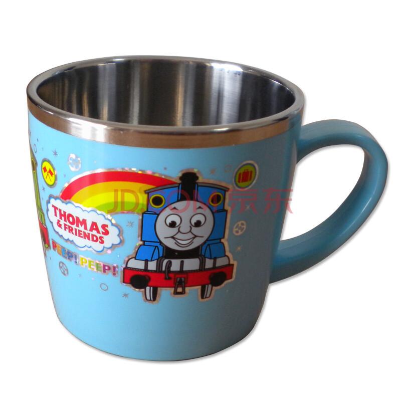 韩国进口thomas托马斯火车头白钢手把儿童水杯