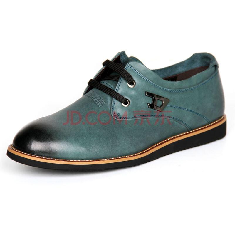 意尔康(yearcon)真皮系带时尚舒适商务休闲男鞋