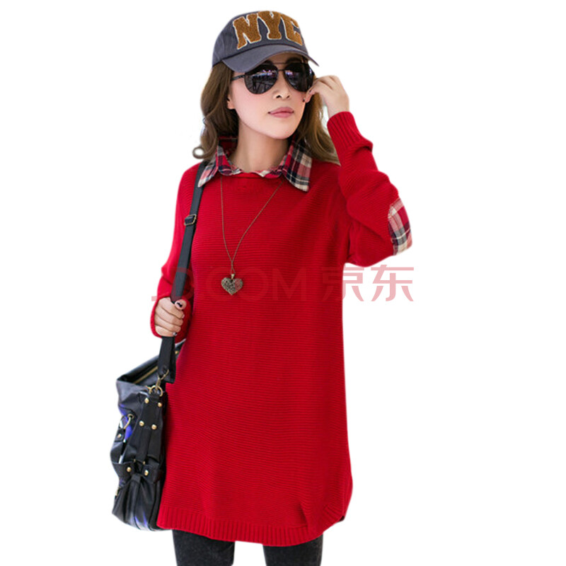 大红色毛衣 搭配