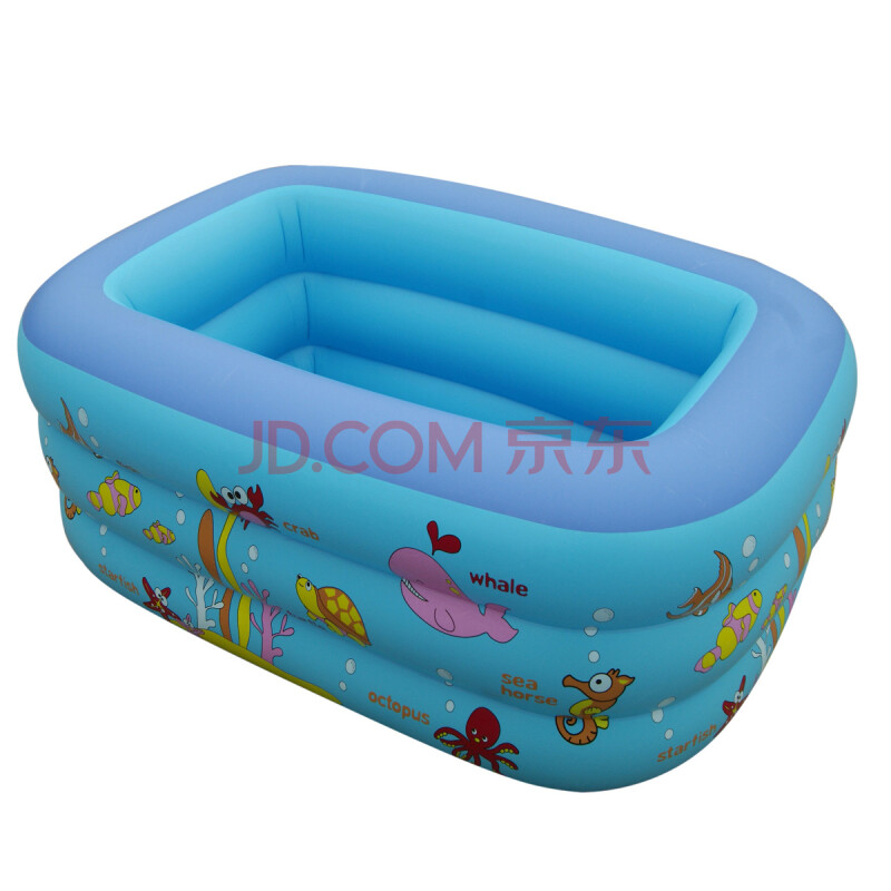 小号婴儿充气游泳池 宝宝方形水池