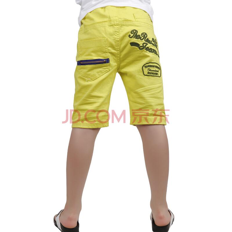儿童休闲裤 男童七分裤