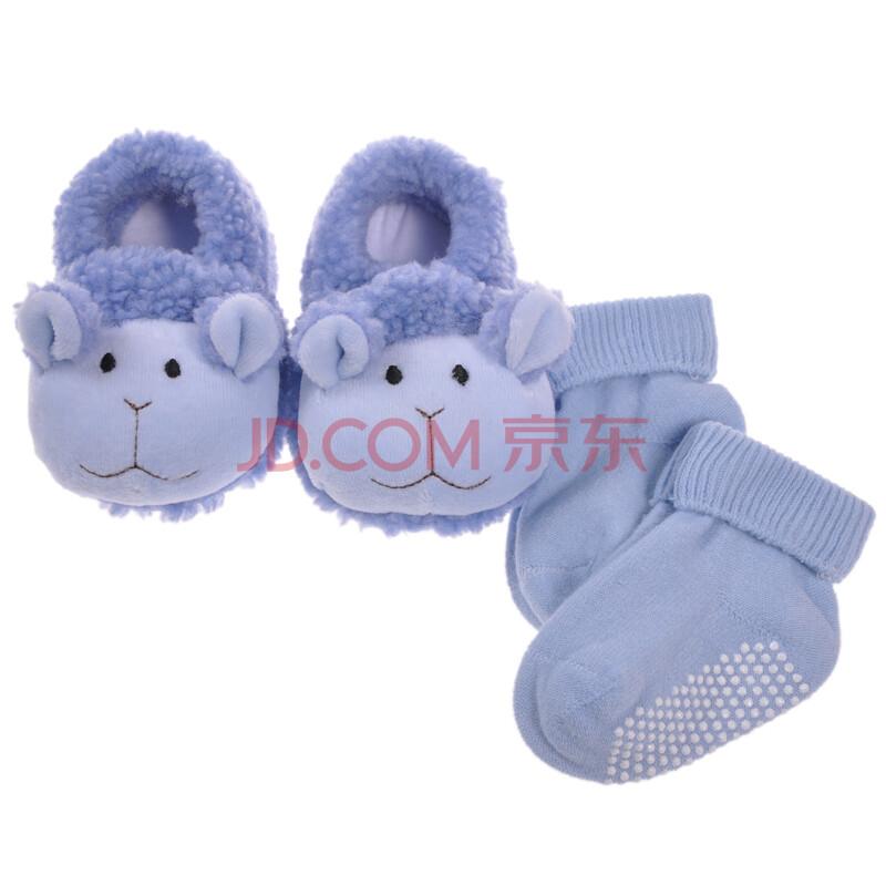 婴儿纯色全棉袜 1双鞋子
