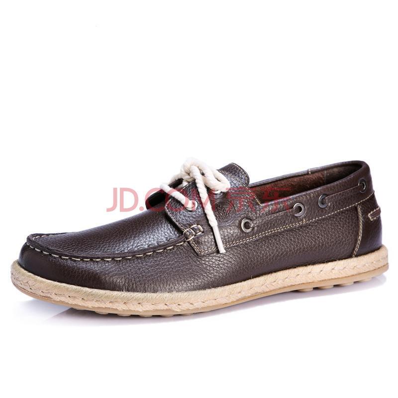 新款帆船鞋豆豆鞋真皮英伦男鞋