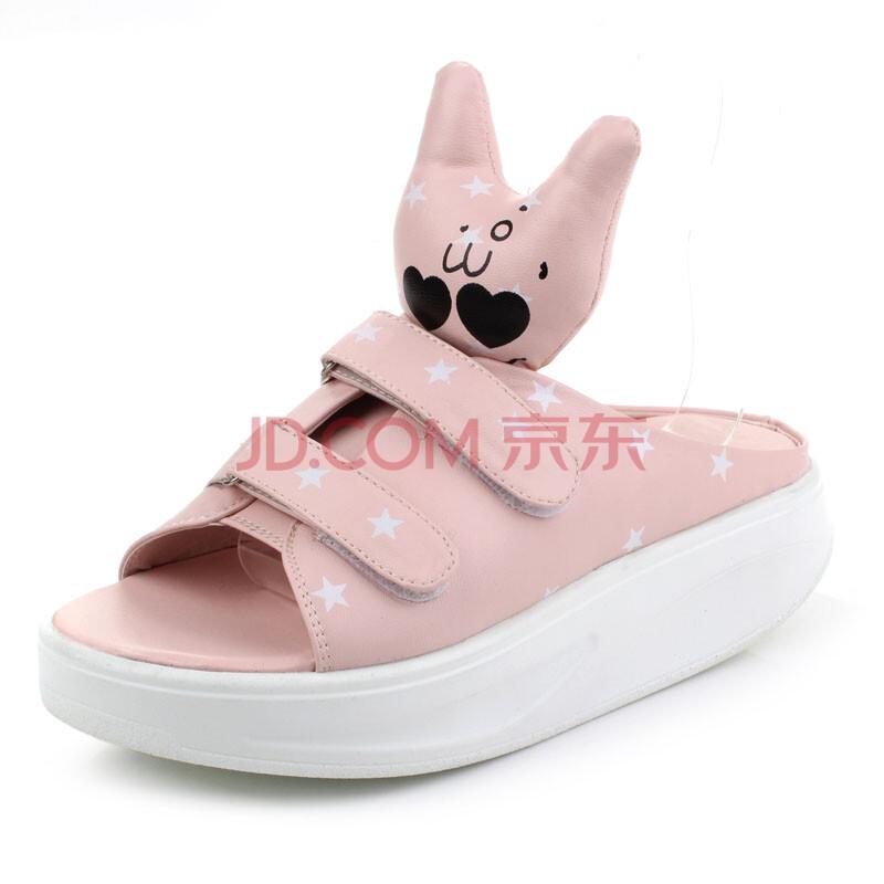 兔子鞋负跟鞋摇摇鞋厚底松糕女鞋子凉鞋减肥鞋凉拖鞋