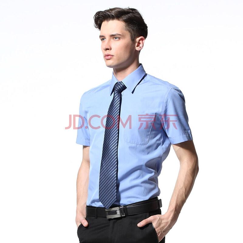 男士短袖衬衫韩版修身时尚