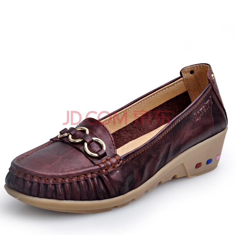 夏季透气女鞋 舒适套脚休闲鞋圆头单鞋