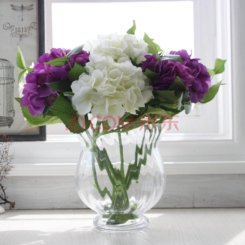 绣球花 花瓶 手绘