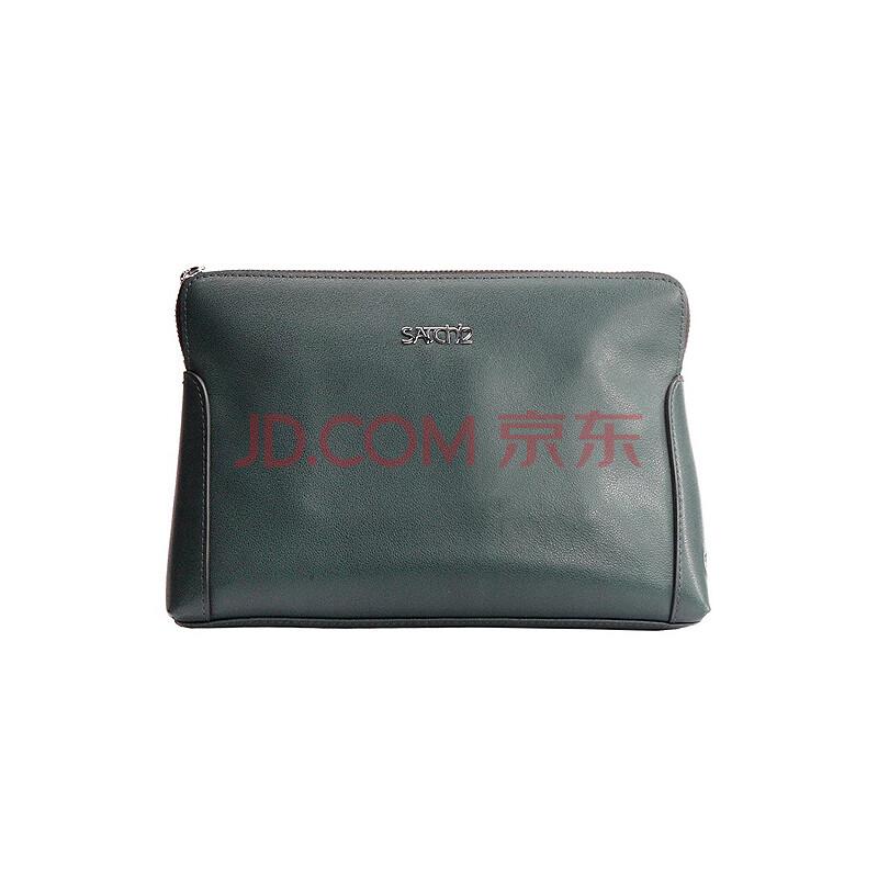 satchi男包-绿色头层牛皮手包ms902007-6g