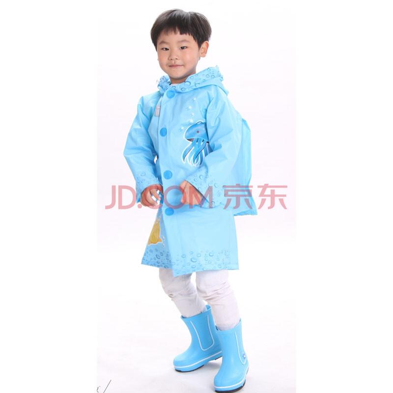 男女儿童小学生雨衣雨披雨鞋带书包位(雨衣+雨靴)