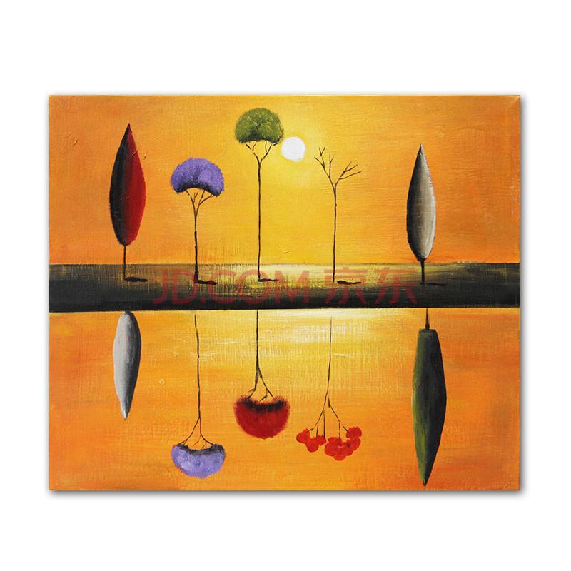纯手绘油画 客厅卧室装饰画 工艺画 家装壁画限量版《树之倒影》p4003