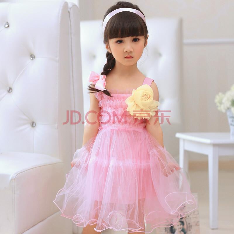 儿童公主纱裙吊带裙子