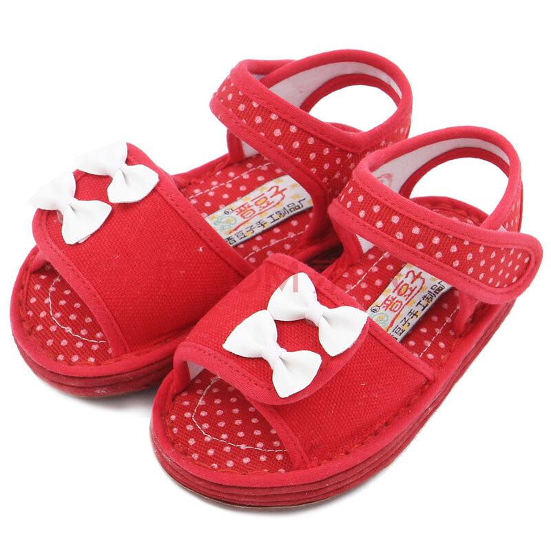 纯手工宝宝婴幼儿儿童手工布凉鞋