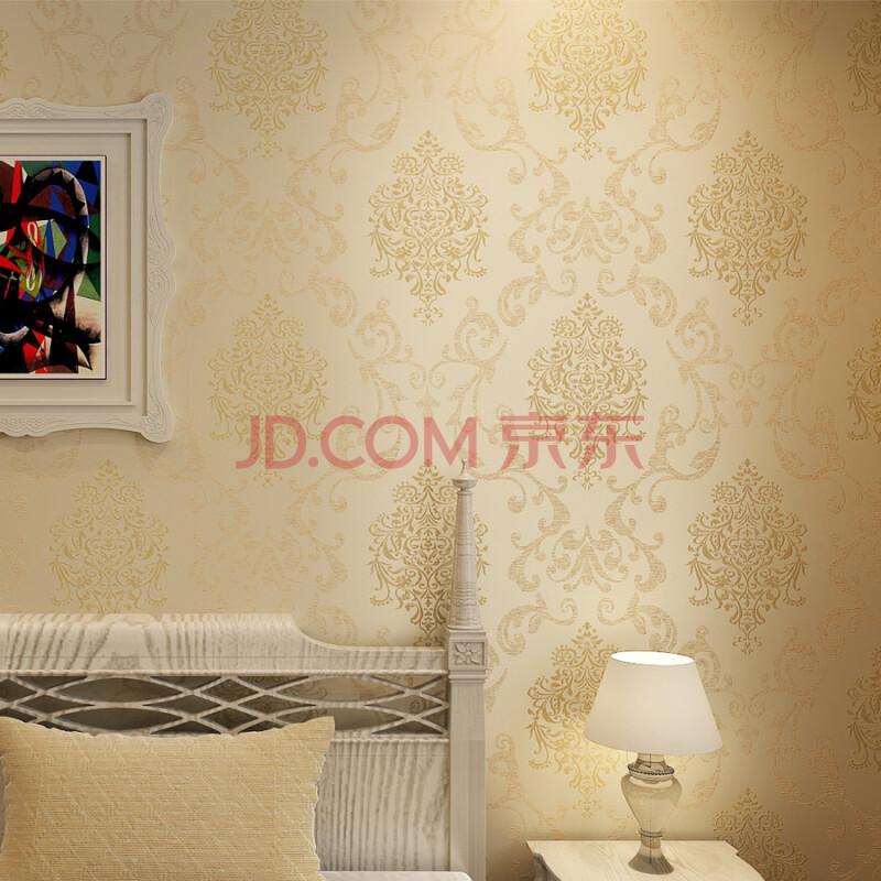 墙纸 欧式无纺布撒金电视墙背景卧室客厅温馨满铺