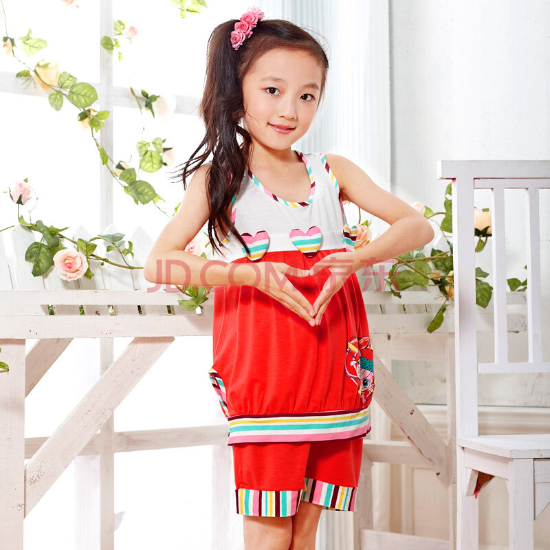 米乐迪儿童睡衣 女孩夏季新款套装