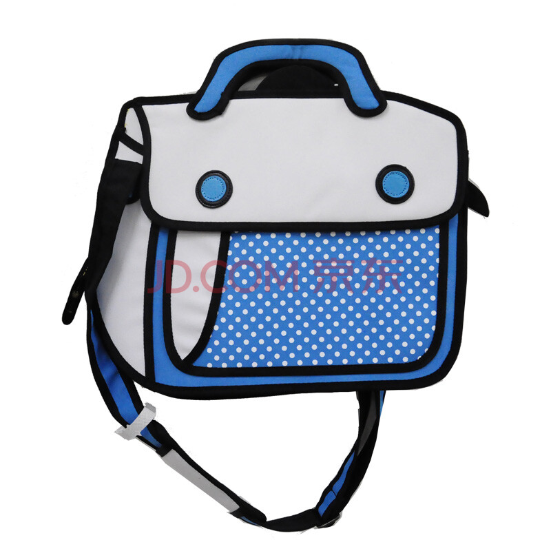 crz平面小贝2014专柜新品时尚潮牌明细款手袋包包cph1bg0442 中蓝点图片