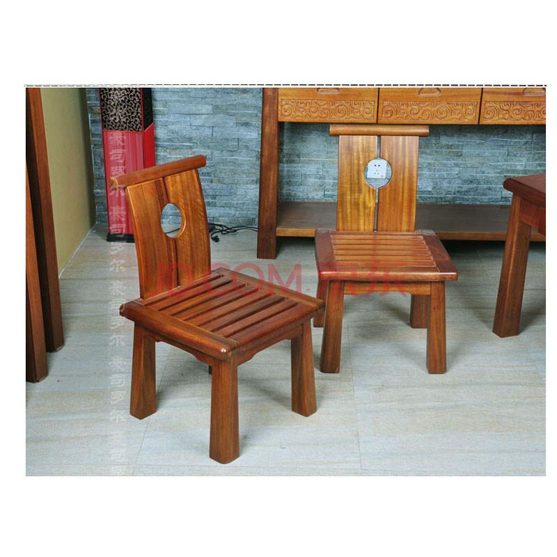 豪司罗尔全实木餐桌椅靠背椅 欧式简约现代餐椅 时尚宜家餐桌凳