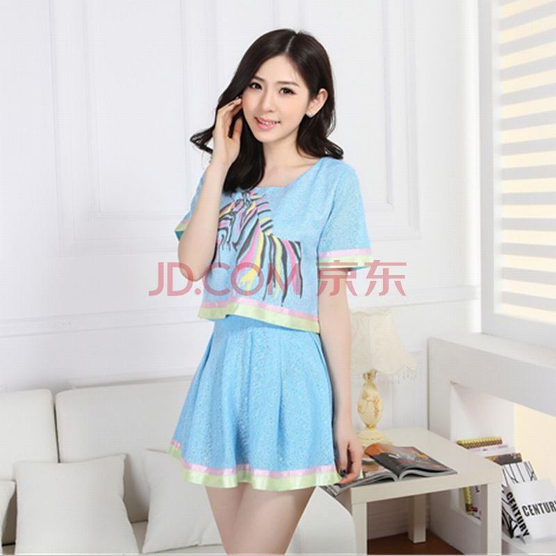 支持货到付款 2014韩版潮夏休闲套裙拼接时尚
