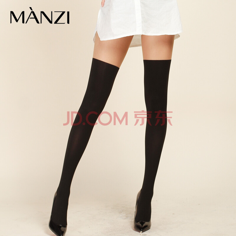 MANZI 日式仿长筒连裤袜 百搭性感女袜 大腿透