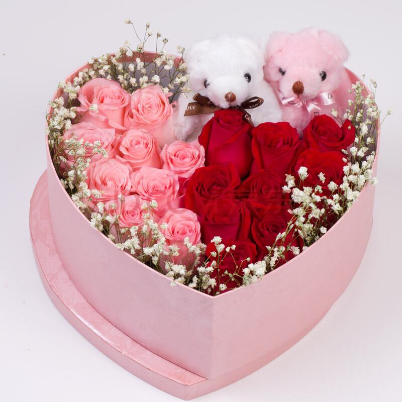 9朵红玫瑰9朵粉