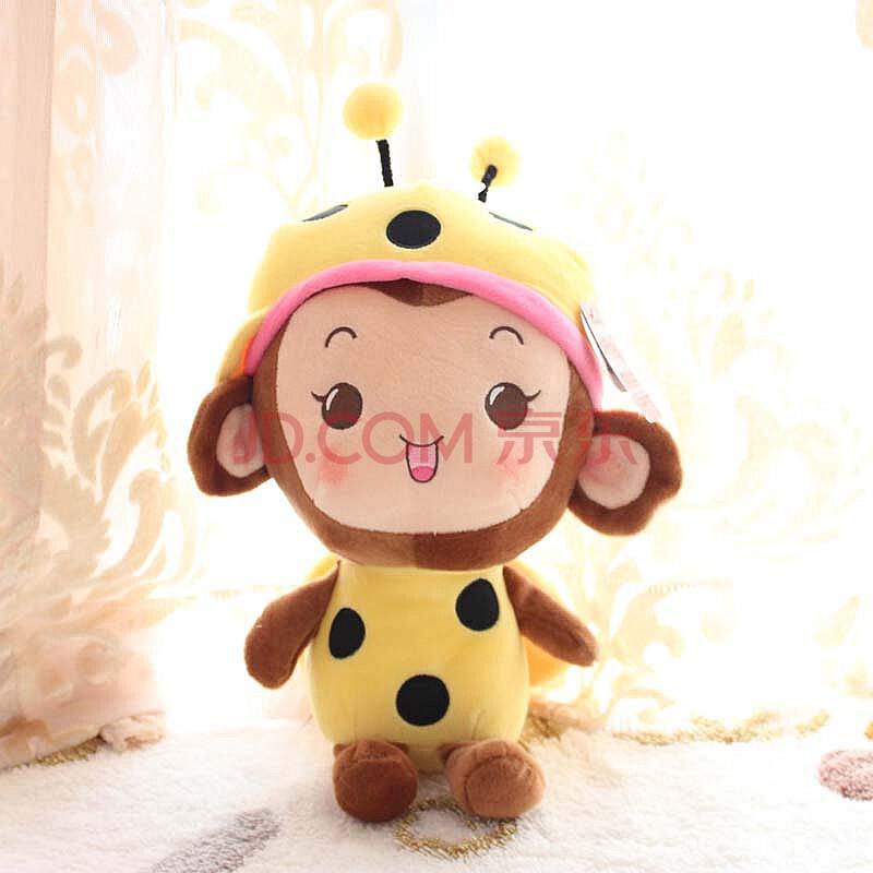 【多爱】瓢虫小猴 毛绒可爱玩具公仔