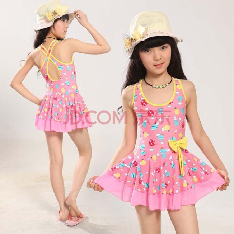 儿童泳衣 裙式连体 可爱公主