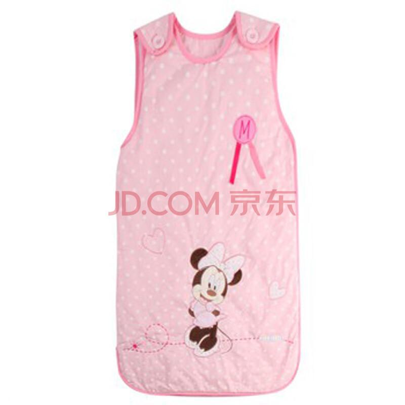 迪士尼宝宝夏天背心睡袋 婴幼儿空调房防踢被春夏款 粉色732203200
