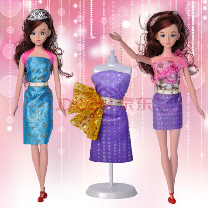 换装芭比娃娃玩具时尚衣服套装女孩礼物过家家玩具