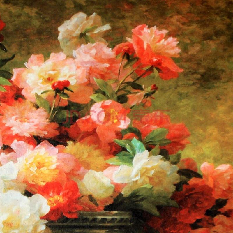 古典花卉欧式田园家居餐厅墙面挂画有框画6