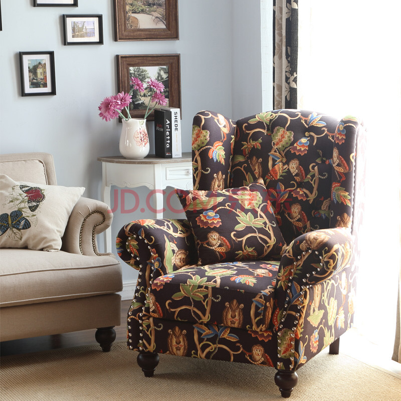 欧式新古典单人沙发 客厅混搭沙发椅