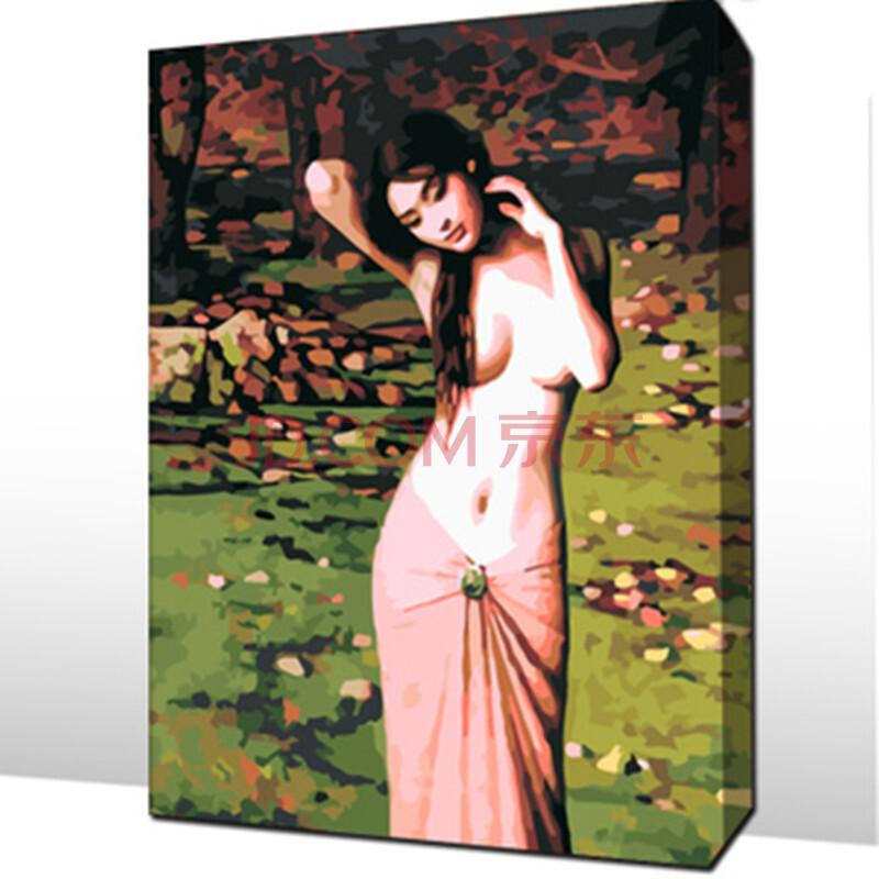 数字油画 diy情侣手绘 餐客厅风景墙壁装饰画 馨香单独 (馨香) 50*65