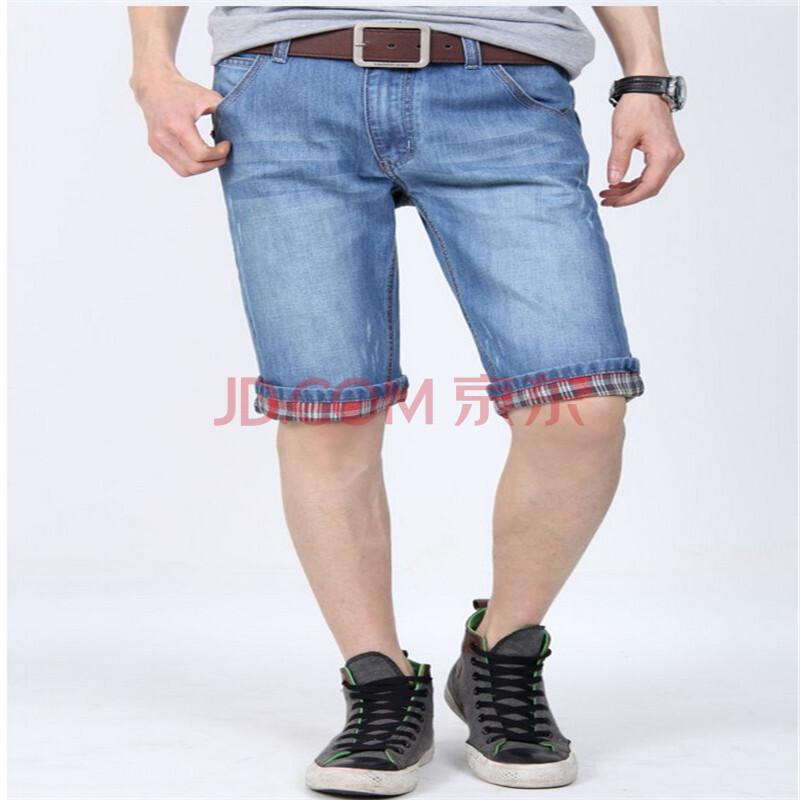 2014浅色男士牛仔七分裤中裤