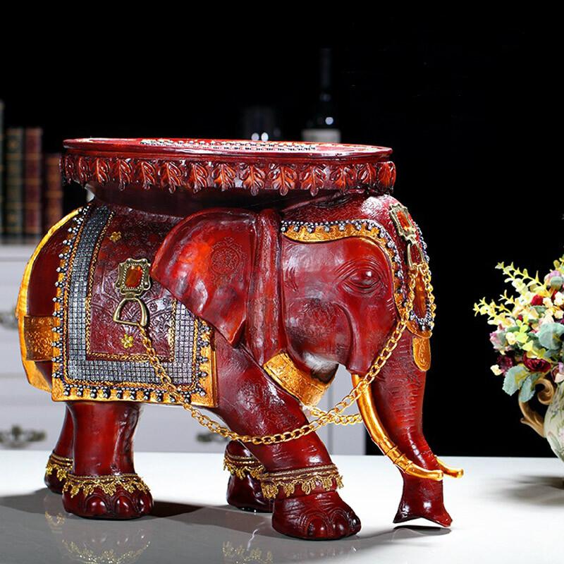 孙小圣 「换鞋凳子大象]树脂摆件家居创意礼品家庭欧式装饰品工艺品摆