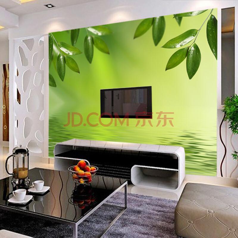 塞拉维大型壁画 沙发电视背景墙墙纸壁纸 水纹绿叶 无缝草编纹/每平米