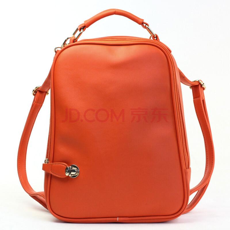 果色双肩包书包女士背包