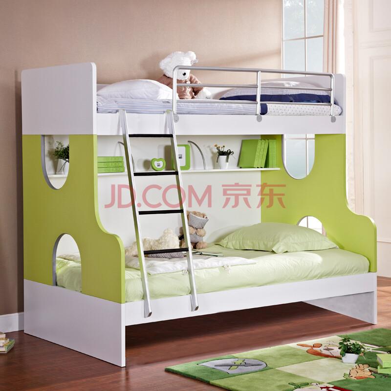 【七彩人生】七彩人生儿童家具色彩板式高低床实木床