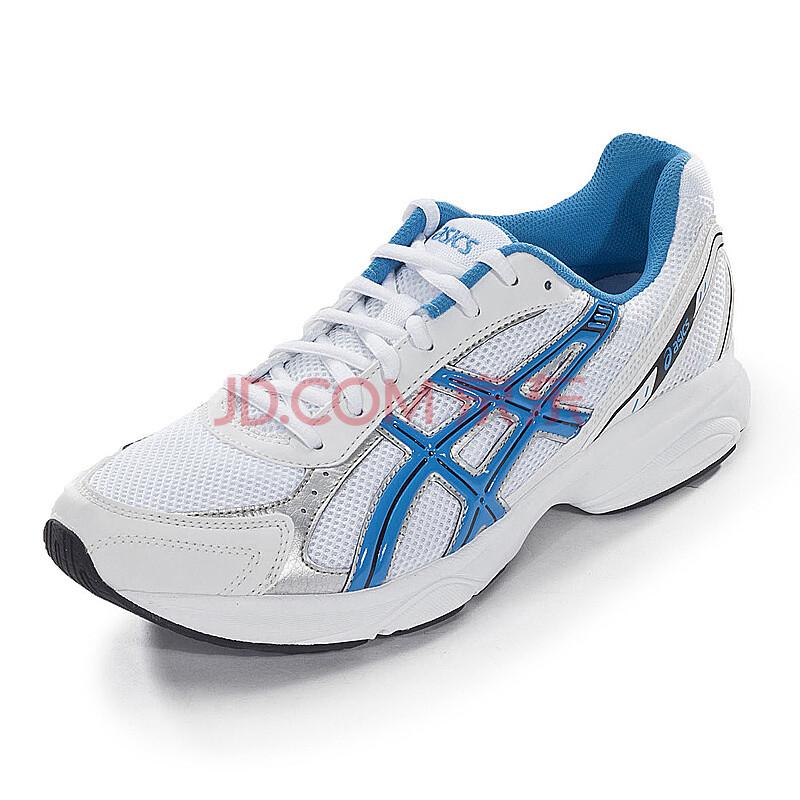 ASICS 亚瑟士 T20XQ4 男式跑步鞋白蓝色